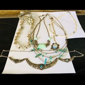 Vintage Boho Necklaces Lot 6+